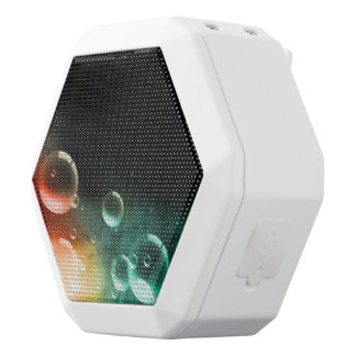 Colorful bubbles white boombot rex bluetooth speaker