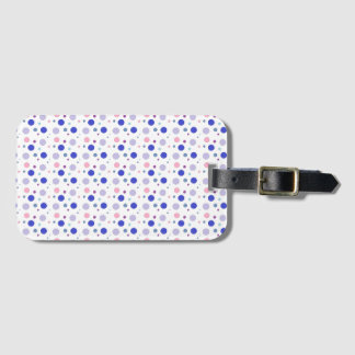 Colorful bubbles design, pastel colors in circles! luggage tag
