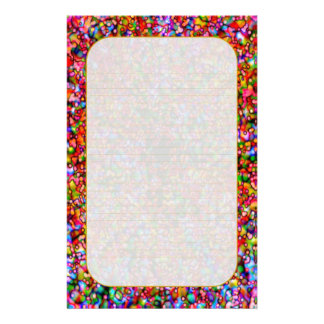 """Colorful Bubbles"" Fine Lined Stationery"