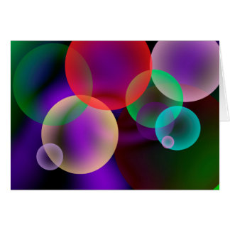 Colorful Bubbles (landscape) Card