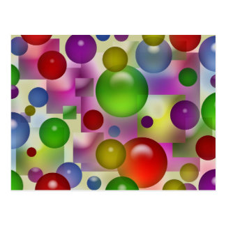Colorful Bubbles Pattern Postcard