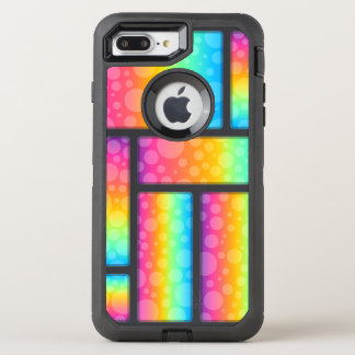 Colorful Bubbles & Retrangle Pattern OtterBox Defender iPhone 8 Plus/7 Plus Case