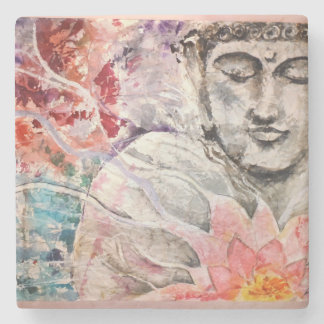Colorful Buddha Lotus Stone Coaster