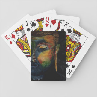 Colorful Budha abstract painting card Playing Cards