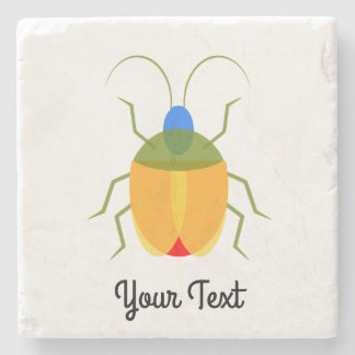 Colorful Bug Stone Beverage Coaster