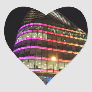 Colorful Building  Heart Sticker