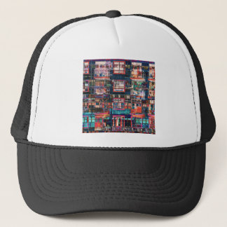Colorful Buildings Collage Trucker Hat