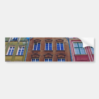Colorful Buildings in Gdansk Danzig Poland Bumper Stickers
