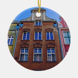 Colorful Buildings in Gdansk Danzig, Poland Ceramic Ornament