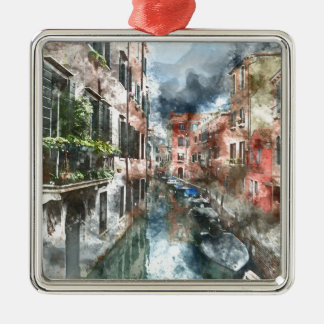 Colorful Buildings in Venice Italy Metal Ornament