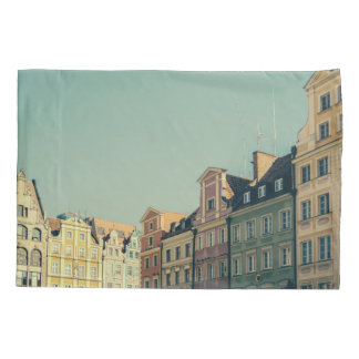 Colorful Buildings in Wroclaw, Poland Pillowcase