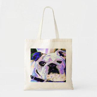 Colorful Bulldog Tote Bags