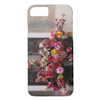Colorful Bunch Of Plastic Roses iPhone 7 Case