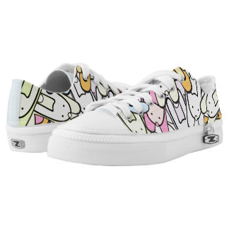 colorful bunnies low tops