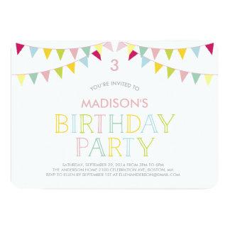 Colorful Bunting | Birthday Invitation