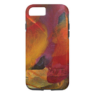 Colorful Burgundy Orange Purple Texture Phone Case