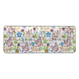 Colorful Butterflies And Flowers Wireless Keyboard