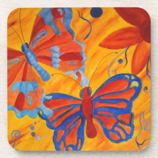 Colorful Butterflies Cork Coaster Beverage Coasters