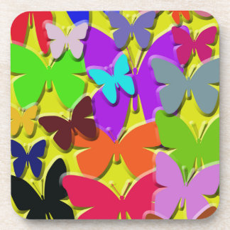 Colorful Butterflies Cork Coasters