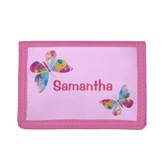 Colorful Butterflies Design Wallet