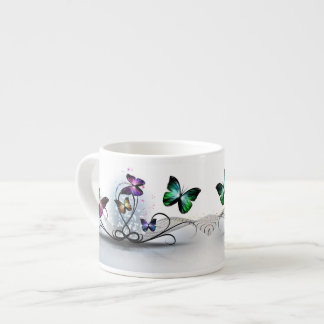 Colorful Butterflies Espresso Cup