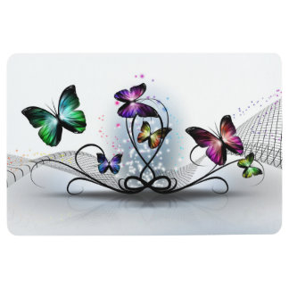 Colorful Butterflies Floor Mat