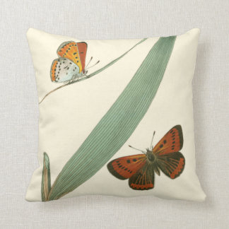 Colorful Butterflies Fluttering Around a Leaf Cushions