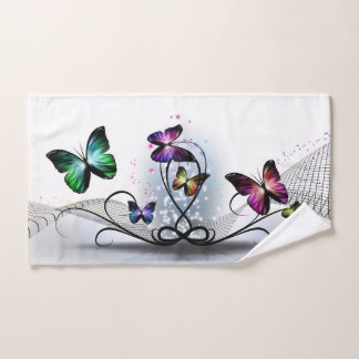 Colorful Butterflies Hand Towel