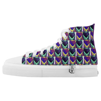 Colorful butterflies high tops