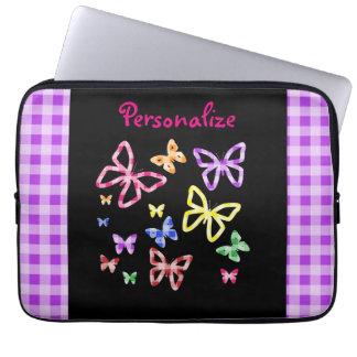 """Colorful Butterflies"" Laptop Computer Sleeve"