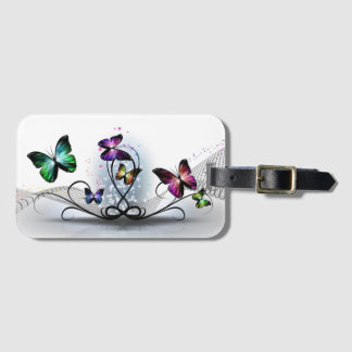 Colorful Butterflies Luggage Tag