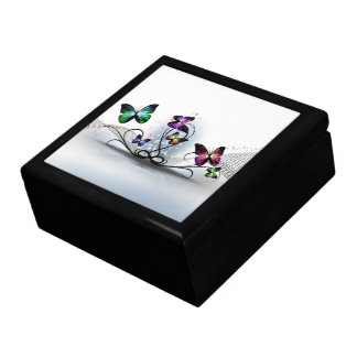 Colorful Butterflies Trinket Box