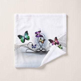 Colorful Butterflies Wash Cloth