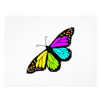 Colorful butterfly clipart flyer
