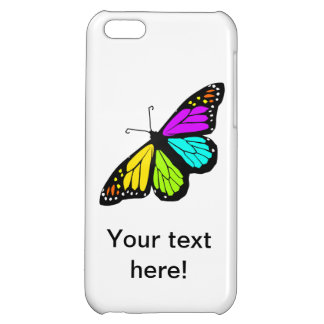 Colorful butterfly clipart iPhone 5C case