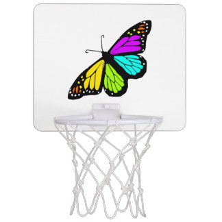 Colorful butterfly clipart mini basketball hoop