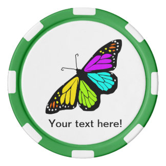Colorful butterfly clipart poker chips