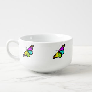 Colorful butterfly clipart soup mug