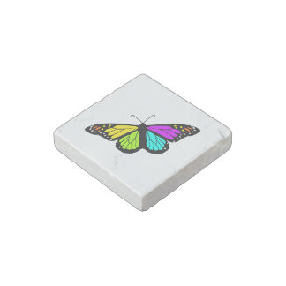 Colorful butterfly clipart stone magnet