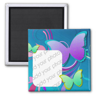 Colorful Butterfly/ Custom Photo Square Magnet