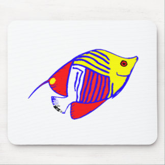 Colorful Butterfly Fish Mouse Pad
