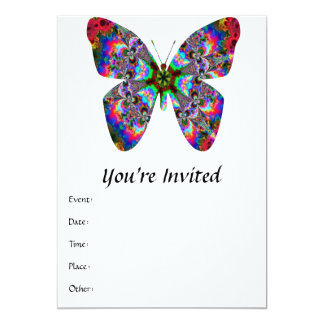 Colorful Butterfly Mandala Card