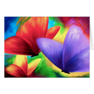 Colorful Butterfly Painting - Multi Card