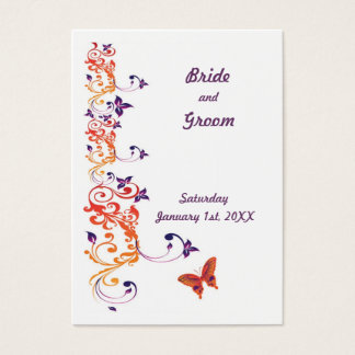 Colorful Butterfly Save the Date for Weddings Business Card