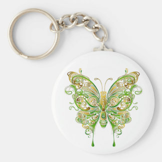Colorful Butterfly Tattoo Style Key Ring