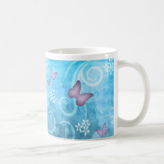 Colorful Butterfly Watercolor Painting Mugs
