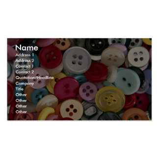 Colorful Buttons Business Card