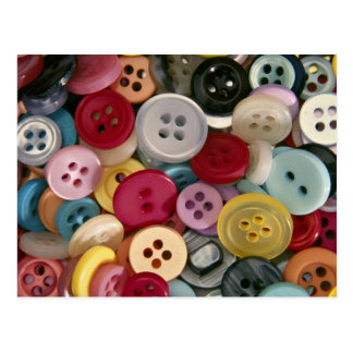 Colorful Buttons Post Cards