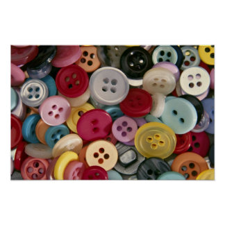 Colorful Buttons Poster