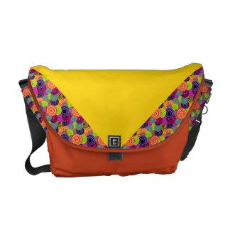 Colorful Buttons Rickshaw Messenger Bag